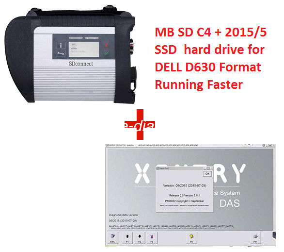 WIFI MB SD Connect Compact 4 2018/5 SSD Hard Disk Works With W7 or W10 System