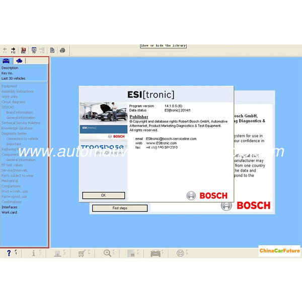 BOSCH ESI 2014 Q1 Version ( Tronic ) Automotive Diagnostic Software Multi Language
