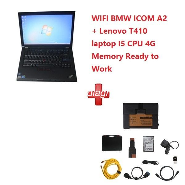 WIFI BMW ICOM A2+B+C Diagnostic and Programming Tool 2019/12V with T410 Laptop Ready To Work