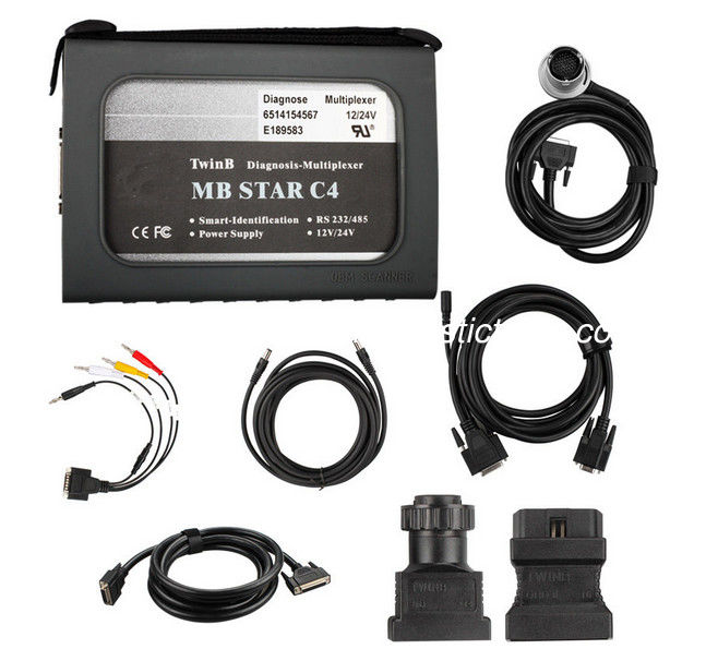 12V/24V Durable Mercedes Diagnostic Tool MB Star Compact 4 Fit For Any Computer