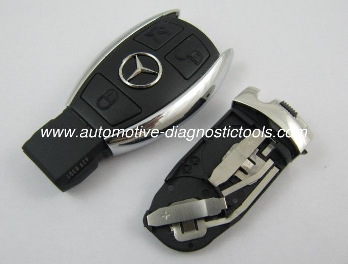 Benz 3 Button Smart Auto Key Shell, Board Plastic Car Key Blanks / Case