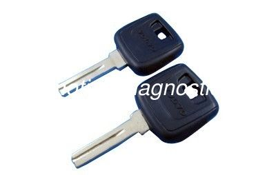 Volvo Transponder Key Shell With Id48 Chip, Plastic Car Key Blanks