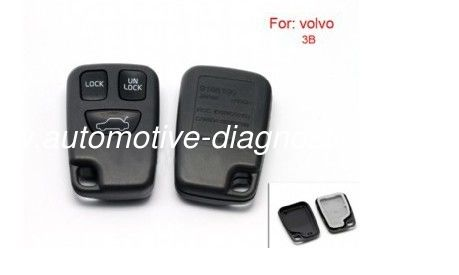 Custom Volvo Remote Key Shell, Plastic 3 Button Car Key Blanks