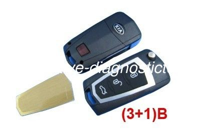 3+1 Button KIA Cerato Modified Remote Key Shell, Custom Remote Car Key Blanks